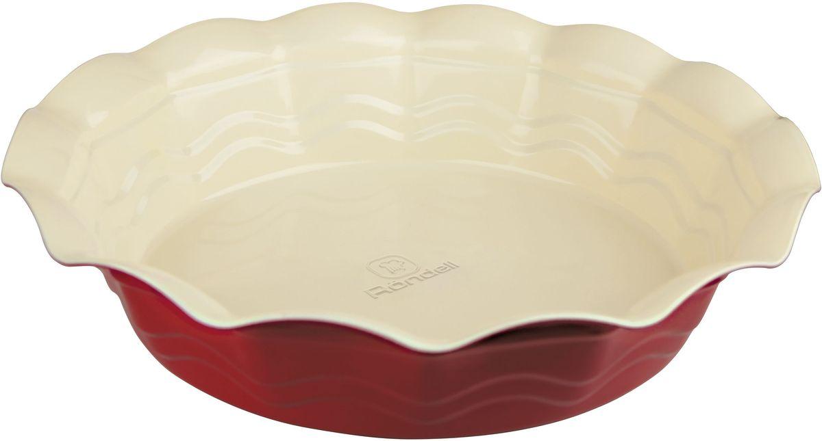 Форма для запекания Rondell Wavy, круглая, 27 см форма для запекания rondell rdf 415 champagne 28x23cm
