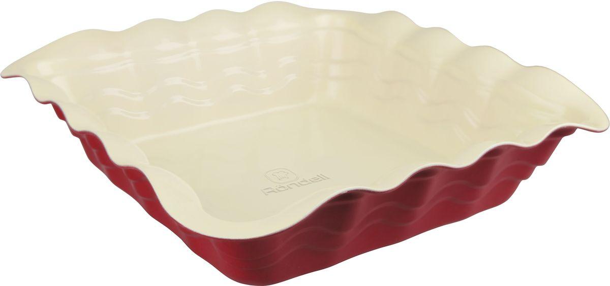 Форма для запекания Rondell Wavy, квадратная, 25 х 25 см форма для запекания rondell rdf 415 champagne 28x23cm