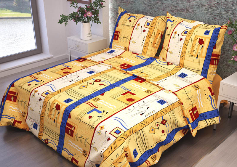 Комплект белья ROKO Стамбул, 1,5-спальный, наволочки 70х70, цвет: желтый, белый, синий82909Комплект белья ROKO состоит из простыни, пододеяльника и двух наволочек. Для производства постельного белья используются экологичные ткани высочайшего качества. Бязь - хлопчатобумажная плотная ткань полотняного переплетения. Отличается прочностью и стойкостью к многочисленным стиркам. Бязь считается одной из наиболее подходящих тканей для производства постельного белья и пользуется в России большим спросом.