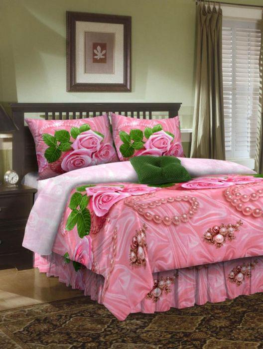 Комплект белья ROKO, 2-спальный, наволочки 70х70, цвет: розовыйFA-5125 WhiteКомплект белья ROKO состоит из простыни, пододеяльника и двух наволочек. Для производства постельного белья используются экологичные ткани высочайшего качества. Бязь - хлопчатобумажная плотная ткань полотняного переплетения. Отличается прочностью и стойкостью к многочисленным стиркам. Бязь считается одной из наиболее подходящих тканей для производства постельного белья и пользуется в России большим спросом.