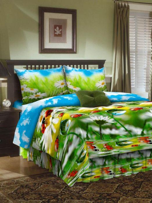 Комплект белья ROKO, 2-спальный, наволочки 70х70, цвет: голубой, зеленый, белый01-0559-1Комплект белья ROKO состоит из простыни, пододеяльника и двух наволочек. Для производства постельного белья используются экологичные ткани высочайшего качества. Бязь - хлопчатобумажная плотная ткань полотняного переплетения. Отличается прочностью и стойкостью к многочисленным стиркам. Бязь считается одной из наиболее подходящих тканей для производства постельного белья и пользуется в России большим спросом.