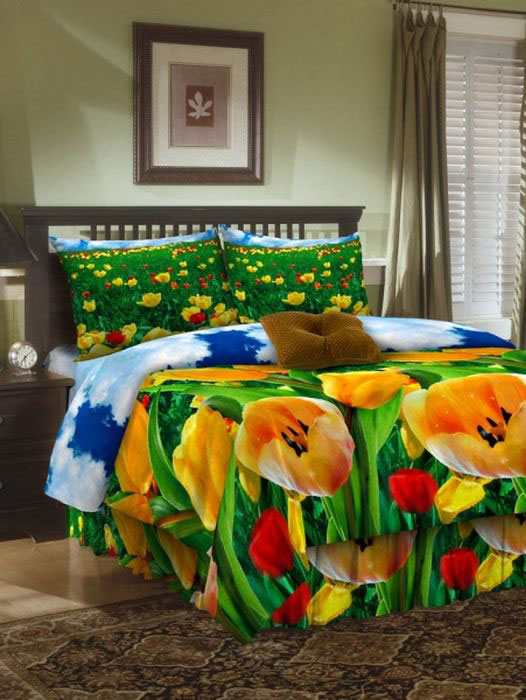 Комплект белья ROKO, евро, наволочки 70х70, цвет: зеленый, желтый, красный391602Комплект белья ROKO состоит из простыни, пододеяльника и двух наволочек. Для производства постельного белья используются экологичные ткани высочайшего качества. Бязь - хлопчатобумажная плотная ткань полотняного переплетения. Отличается прочностью и стойкостью к многочисленным стиркам. Бязь считается одной из наиболее подходящих тканей для производства постельного белья и пользуется в России большим спросом.