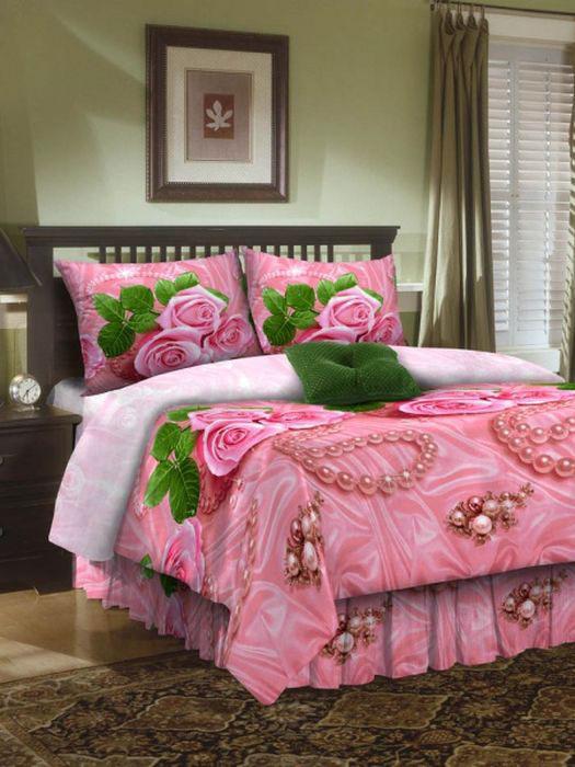 Комплект белья ROKO, евро, наволочки 70х70, цвет: розовый115914Комплект белья ROKO состоит из простыни, пододеяльника и двух наволочек. Для производства постельного белья используются экологичные ткани высочайшего качества. Бязь - хлопчатобумажная плотная ткань полотняного переплетения. Отличается прочностью и стойкостью к многочисленным стиркам. Бязь считается одной из наиболее подходящих тканей для производства постельного белья и пользуется в России большим спросом.