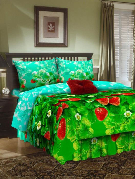 Комплект белья ROKO, евро, наволочки 70х70, цвет: зеленый, красныйCLP446Комплект белья ROKO состоит из простыни, пододеяльника и двух наволочек. Для производства постельного белья используются экологичные ткани высочайшего качества. Бязь - хлопчатобумажная плотная ткань полотняного переплетения. Отличается прочностью и стойкостью к многочисленным стиркам. Бязь считается одной из наиболее подходящих тканей для производства постельного белья и пользуется в России большим спросом.