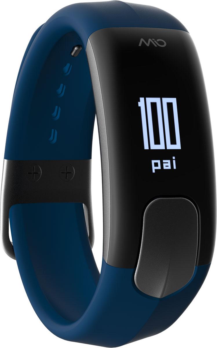 Фитнес-трекер Mio Slice Large, цвет: синий. 60P-NAV-LRG007Mio SLICE - это первое носимое устройство, которое записывает ваш пульс в течение всего дня и преобразует собранные данные в очки PAI (Personal Activity Intelligence). PAI - это революционный персонализированный индекс активности, учитывающий реакцию организма на физические нагрузки. Помимо пульса, SLICE также позволяет отслеживать качество сна, расход калорий, дистанцию и другие показатели. И все это в одном стильном, влагозащищенном устройстве с простым и понятным управлением.Учет и отображение на дисплее очков PAIКруглосуточный контроль пульса (оптический датчик Mio)Подсчет ежедневной активности (шаги, калории, дистанция)Анализ качества сна по пульсу и минимального ЧСС за ночьУведомления о входящих звонках и текстовых сообщениях со смартфонаВлагозащищенность: выдерживает погружение на глубину до 30 метров.Аккумулятор: одного заряда хватает на 5 дней активного использованияВстроенная память: может сохранять до 7 дней полных данных об активности, сне и пульсеСовместимость: работает с большинством популярных фитнес- и спортивных приложений