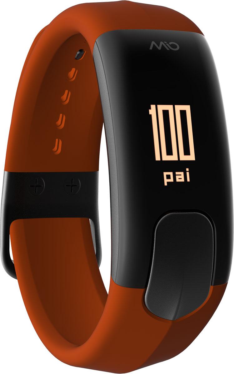 Фитнес-трекер Mio Slice Large, цвет: коричневый. 60P-SIE-LRGALC-MB10-3BALRU1-1Mio SLICE - это первое носимое устройство, которое записывает ваш пульс в течение всего дня и преобразует собранные данные в очки PAI (Personal Activity Intelligence). PAI - это революционный персонализированный индекс активности, учитывающий реакцию организма на физические нагрузки. Помимо пульса, SLICE также позволяет отслеживать качество сна, расход калорий, дистанцию и другие показатели. И все это в одном стильном, влагозащищенном устройстве с простым и понятным управлением.Учет и отображение на дисплее очков PAIКруглосуточный контроль пульса (оптический датчик Mio)Подсчет ежедневной активности (шаги, калории, дистанция)Анализ качества сна по пульсу и минимального ЧСС за ночьУведомления о входящих звонках и текстовых сообщениях со смартфонаВлагозащищенность: выдерживает погружение на глубину до 30 метров.Аккумулятор: одного заряда хватает на 5 дней активного использованияВстроенная память: может сохранять до 7 дней полных данных об активности, сне и пульсеСовместимость: работает с большинством популярных фитнес- и спортивных приложений
