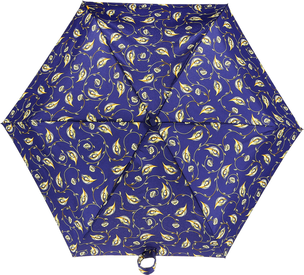 Зонт женский Zest, механический, 5 сложений, цвет: синий, желтый. 25518-269Пуссеты (гвоздики)Компактный женский зонт Zest выполнен из металла, пластика и оформлен ярким принтом.Каркас зонта выполнен из шести спиц на прочном стержне. На концах спиц предусмотрены металлические элементы, которые защитят владельца от травм. Купол зонта изготовлен прочного полиэстера. Закрытый купол застегивается на липучку хлястиком. Практичная рукоятка закругленной формы разработана с учетом требований эргономики и выполнена из пластика.Зонт складывается и раскладывается механическим способом.Такой зонт не только надежно защитит от дождя, но и станет стильным аксессуаром.