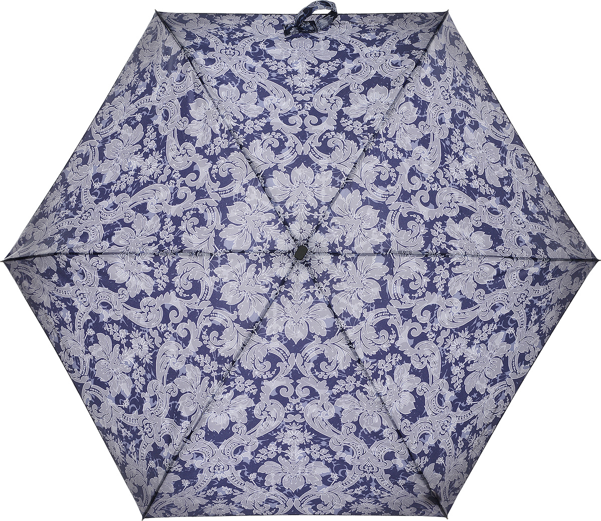 Зонт женский Zest, механический, 5 сложений, цвет: сиреневый, серый. 25516-128045100095/32793/3500NКомпактный женский зонт Zest выполнен из металла, пластика и оформлен ярким принтом.Каркас зонта выполнен из шести спиц на прочном стержне. На концах спиц предусмотрены металлические элементы, которые защитят владельца от травм. Купол зонта изготовлен прочного полиэстера. Закрытый купол застегивается на липучку хлястиком. Практичная рукоятка закругленной формы разработана с учетом требований эргономики и выполнена из пластика.Зонт складывается и раскладывается механическим способом.Такой зонт не только надежно защитит от дождя, но и станет стильным аксессуаром.