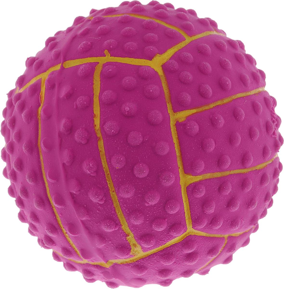 Игрушка для собак Dezzie Мяч. Волейбол, с пищалкой, диаметр 7,5 см0120710Игрушка для собак Dezzie Мяч. Волейбол изготовлена из латекса в виде волейбольного мяча и оснащена пищалкой. Латекс не твердеет под действием желудочного сока, поэтому игрушку можно смело покупать даже самым маленьким щенкам. Такая обеспечит досуг собаке и не позволит ей скучать. Она безопасна для здоровья животного. Игрушка очень легкая, поэтому собаке совсем нетрудно брать ее в пасть и переносить с места на место. Игрушка для собак Dezzie Мяч. Волейбол станет прекрасным подарком для неугомонного четвероногого питомца.Диаметр мяча: 7,5 см.
