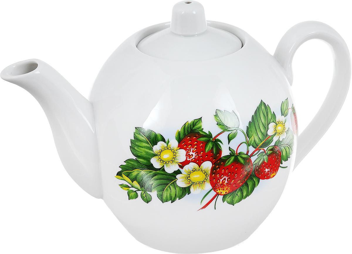 Чайник заварочный Фарфор Вербилок Цветущая земляника, 800 мл. 1641490391602Заварочный чайник Фарфор Вербилок Цветущая земляника изготовлен из высококачественного фарфора. Изделие прекрасно подходит для заваривания вкусного и ароматного чая, а также травяных настоев. Отверстия в основании носика препятствуют попаданию чаинок в чашку. Оригинальный дизайн сделает чайник настоящим украшением стола. Он удобен в использовании и понравится каждому.Диаметр чайника (по верхнему краю): 6 см. Высота чайника (без учета крышки): 12 см.