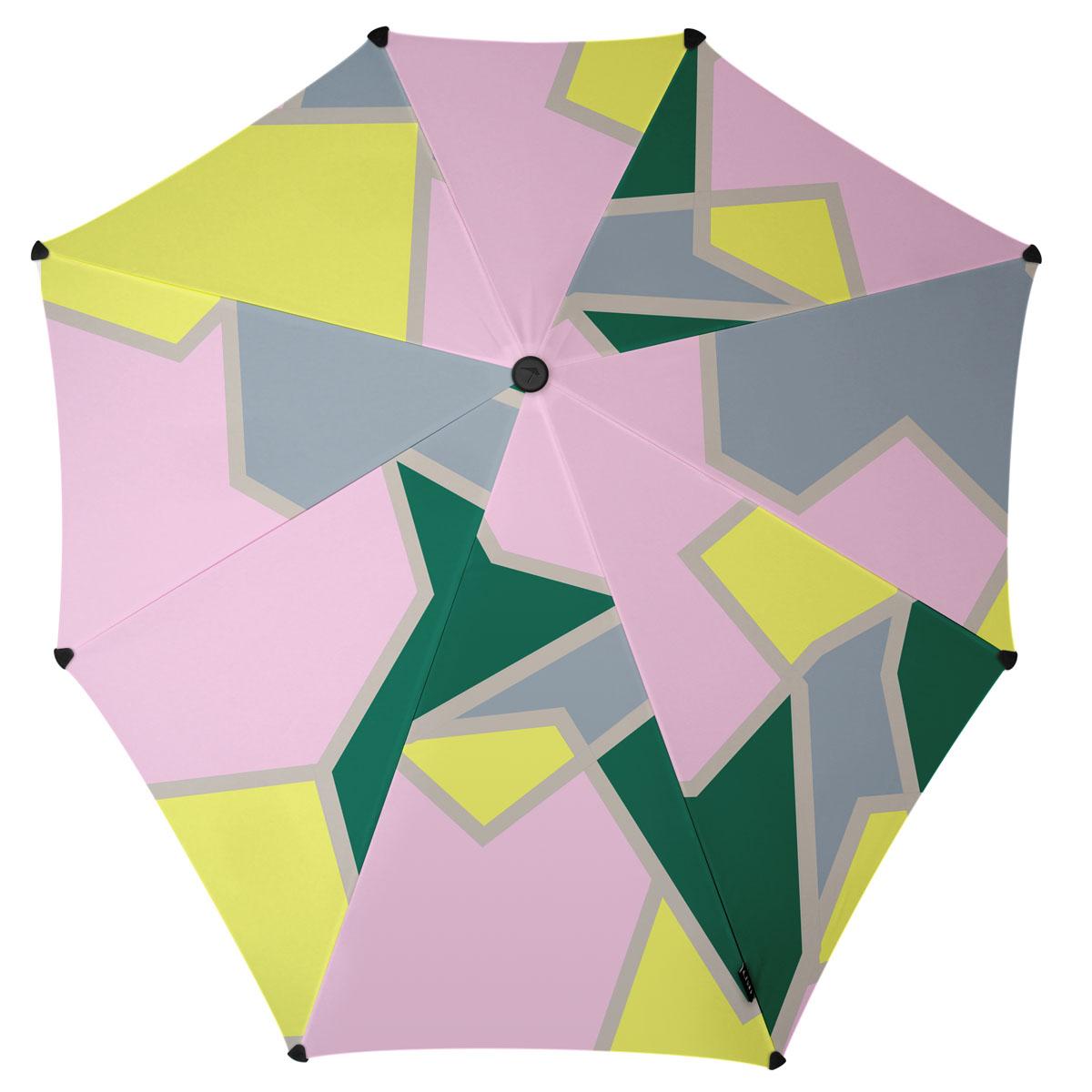 Зонт-трость Senz, цвет: серый, розовый, салатовый. 2011078YY-11678-3Инновационный противоштормовый зонт, выдерживающий любую непогоду. Входит в коллекцию global playground, разработанную в соответствии с современными течениями fashion-индустрии. Вдохновением для дизайнеров стали улицы городов по всему земному шару. На новых принтах вы встретите уникальный микс всего, что мы открываем для себя во время путешествий: разнообразие оттенков, цветов, теней, линий и форм. Зонт Senz отлично дополнит образ, подчеркнет индивидуальность и вкус своего обладателя.Форма купола продумана так, что вы легко найдете самое удобное положение на ветру – без паники и без борьбы со стихией. Закрывает спину от дождя. Благодаря своей усовершенствованной конструкции, зонт не выворачивается наизнанку даже при сильном ветре. Модель Senz Original выдержала испытания в аэротрубе со скоростью ветра 100 км/ч. Характеристики:- тип — трость- выдерживает порывы ветра до 100 км/ч- УФ-защита 50+- удобная мягкая ручка- безопасные колпачки на кончиках спицах- в комплекте прочный чехол из плотной ткани с лямкой на плечо - гарантия 2 года