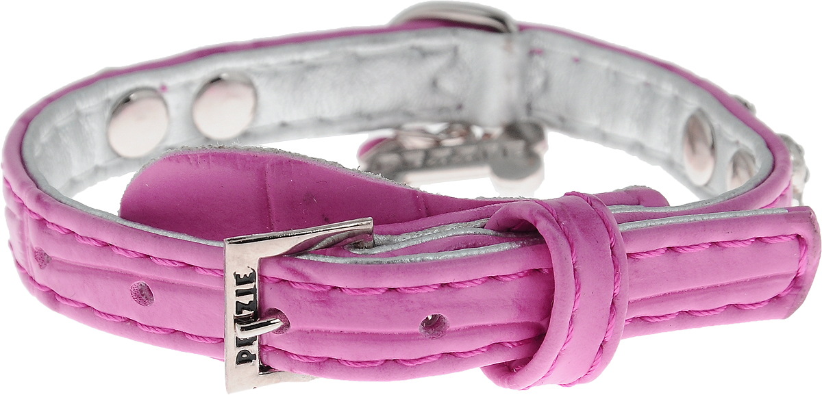 Ошейник для собак Dezzie, цвет: розовый, обхват шеи 25 см, ширина 1 см. Размер XS. 56243390120710Ошейник для собак Dezzie изготовлен из полиэстера и декорирован стразами. Он устойчив к влажности и перепадам температур. Клеевой слой, сверхпрочные нити и крепкие металлические элементы делают ошейник надежным и долговечным.Размер ошейника регулируется при помощи пряжки. Имеется металлическое кольцо для крепления поводка. Изделие отличается высоким качеством, удобством и универсальностью, а также имеет эффектный внешний вид. Минимальный обхват шеи: 20 см. Максимальный обхват шеи: 25 см. Ширина ошейника: 1 см.