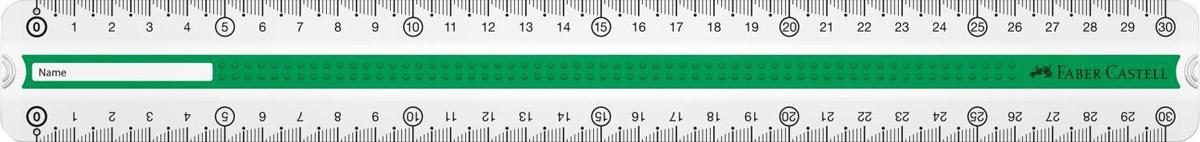 Faber-Castell Линейка Grip 30 см цвет зеленый72523WDЛинейка Faber-Castell Grip выполнена из прозрачного плоского пластика. Линейка имеет две сантиметровых шкалы, благодаря чему подойдет как для правшей, так и для левшей. 3D Grip-зона и скошенные края обеспечат удобный захват линейки. Практичная и удобная линейка - незаменимый инструмент на любом рабочем столе.