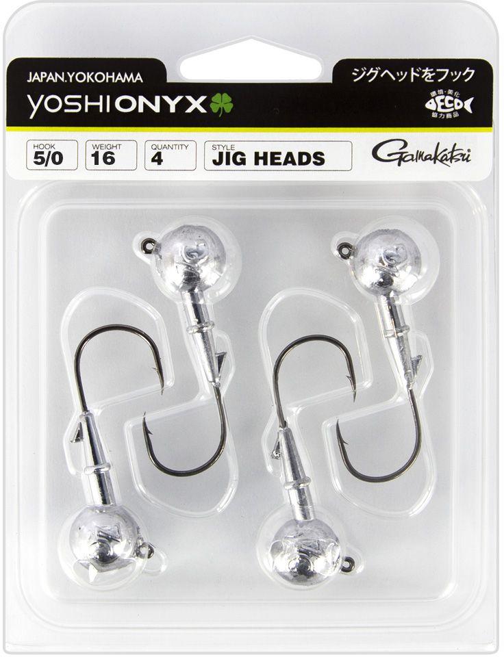 Джигголовка Yoshi Onyx, 26 г, крючок Gamakatsu 4/0, 4 шт010-01199-23Джигголовки предназначены в первую очередь для донной спиннинговой ловли – джиг спиннинга. Джиг головками оснащаются всевозможные мягкие приманки: виброхвосты, твистеры, силиконовые рачки и черви. Возможно их применение и с естественными насадками, к примеру, при ловле судака бортовой удочкой на мертвую рыбку или кусочки рыбы. Джигголовка оснащена крючком Gamakatsu. Такой крючок прекрасно пробивает жесткую пасть крупного судака, щуки и сома.