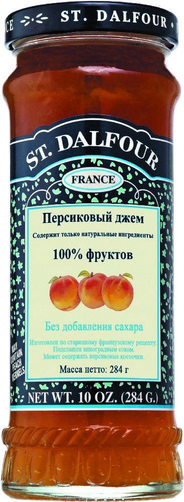St.Dalfour Джем Персик, 284 г0120710Без сахара. Изготовлен по старинным французским рецептам. Не содержит консервантов, искусственных ароматизаторов и красителей. Содержит только натуральные ингредиенты.