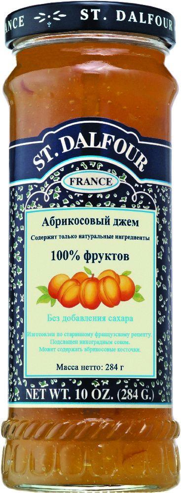 St.Dalfour Джем Абрикос, 284 г130211020014Без сахара. Изготовлен по старинным французским рецептам. Не содержит консервантов, искусственных ароматизаторов и красителей. Содержит только натуральные ингредиенты. Подслащен виноградным соком.