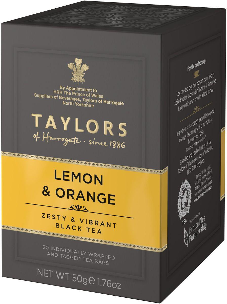 Taylors of Harrogate чай черный байховый с ароматом лимона и апельсина в пакетиках, 20 шт00-00000396На создание этого восхитительного купажа чая нас вдохновили древние китайские традиции чаепития, когда чаи смешивались с эфирными маслами цветов и цитрусовых. Эта смесь черных чаев со сладким и острым ароматом цитрусовых позволит вам наслаждаться напитком в любое время суток. Не рекомендуется добавлять молоко для сохранения истинного вкуса, а сахар или мед выгодно подчеркнут его фруктовые нотки.Способ приготовления: для приготовления одной чашки восхитительного напитка залейте 1 пакетик черного чая 180 мл горячей воды 100°С и настаивайте в течение 3-5 минут.