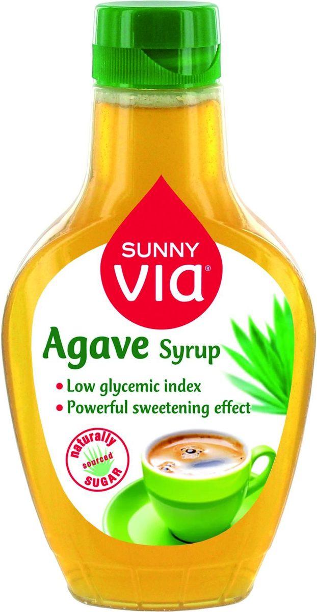 Sunny Via Сироп Агавы с диспенсером, 350 г0120710Сироп Агавы - натуральный продукт с уникальным слегка карамельным сладким вкусом. Фруктоза является главным ингредиентом Сиропа Агавы, она усваивается организмом медленнее и, таким образом не вызывает резкого увеличения уровня сахара в крови. Благодаря этому Сироп Агавы относится к продуктам с низким Гликемическим индексом. (Гликемический индекс Сиропа Агавы ниже в 5 раз по сравнению с Гликемическим индексом традиционного сахара). Жидкая текстура позволит потребителю добавлять его в горячие напитки (кофе, чай, какао), фруктовые десерты, йогурты и другие блюда.Уважаемые клиенты! Обращаем ваше внимание на то, что упаковка может иметь несколько видов дизайна. Поставка осуществляется в зависимости от наличия на складе.