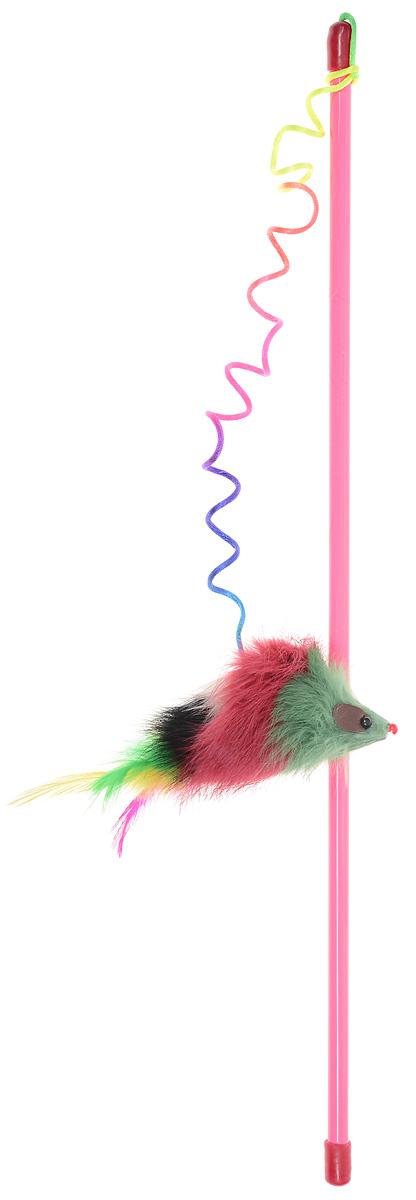 Игрушка для кошек Dezzie Дразнилка Мышь-клоун, цвет: розовый, красный, зеленый, длина 46 см5620120Игрушка для кошек Dezzie Дразнилка Мышь-клоун, изготовленная из пластика, дерева, текстиля и пера, прекрасно подойдет для веселых игр с вашим пушистым любимцем. Играя с этой забавной дразнилкой, маленькие котята развиваются физически, а взрослые кошки и коты поддерживают свой мышечный тонус. Яркая игрушка сразу привлечет внимание вашего любимца, не навредит здоровью и увлечет его на долгое время. Длина удочки: 46 см.Размер игрушки: 15 х 6 х 5 см.УВАЖАЕМЫЕ КЛИЕНТЫ!Обращаем ваше внимание на цветовой ассортимент товара. Поставка осуществляется в зависимости от наличия на складе.