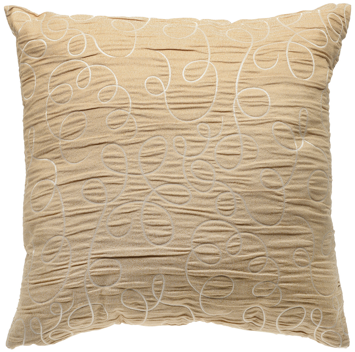 Подушка декоративная KauffOrt Минор, цвет: золотисто-бежевый, 40 x 40 см3121024240Декоративная подушка KauffOrt Минор прекрасно дополнит интерьер спальни или гостиной. Мягкий на ощупь чехол подушки выполнен из 100% полиэстера. Внутри находится мягкий наполнитель, выполненный из холлофайбера. Чехол легко снимается благодаря молнии.Красивая подушка создаст атмосферу уюта и комфорта в спальне и станет прекрасным элементом декора.