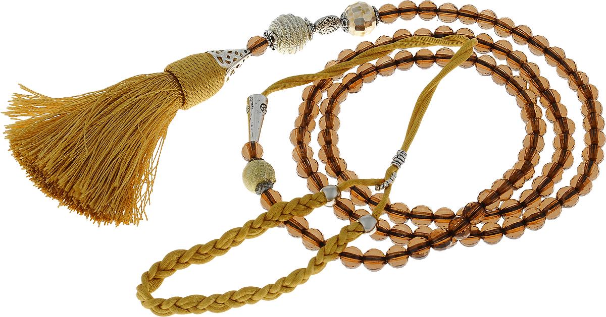 Ринговка для собак Эрика, цвет: коричневый, ширина 0,8 см, длина 131 см