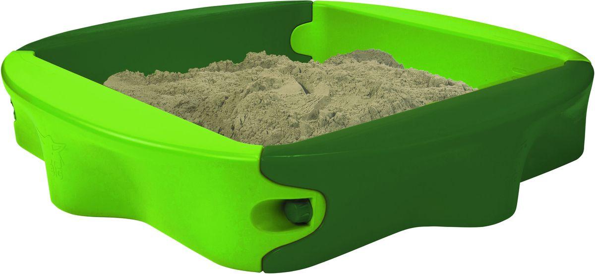 Как здорово поиграть в песочнице Big-Sandy с крышкой, полепить куличики, построить сказочные замки и просто башенки. Этот игровой набор можно установить как во дворе дома, так и на дачном участке. Песочница достаточно вместительная для нескольких детей, и с легкостью выдерживает нагрузки до 50 килограмм. На случай дождя предусмотрена крышка: малыш переждет дождик дома, а сухой песок уже будет дожидаться его во дворе.  Играть в песочнице не только увлекательно - в игре малыш развивает моторику, фантазию в зависимости от той игры, в которую он будет играть. Порадуйте малыша его собственной песочницей!