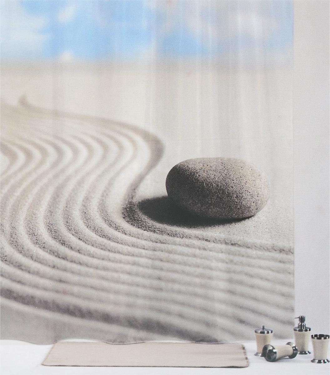 Штора для ванной комнаты Aqva Line Лунный камень, 180 х 180 смCLP446Штора Aqva Line Лунный камень, изготовленная из 100% полиэстера, отлично дополнит любой интерьер ванной комнаты. При изготовлении используются специальные гипоаллергенные чернила для прямой печати по ткани, безопасные для человека.В комплекте: 1 штора, 12 крючков.
