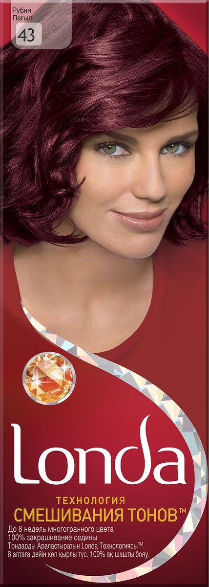 LONDA Крем-краска для волос стойкая 43 РубинLC-81212666Ищите цвет, полный жизни, который бы сохранился надолго? Крем-краска для волос Londa идеально вам подойдет. Эксклюзивная система окрашивания дарит вам до 8 недель многогранного цвета. Это возможно благодаря технологии смешивания тонов, которая объединяет богатые оттенки, и бальзаму Стойкий цвет, который надолго сохранит ваш насыщенный цвет. 100% закрашивание седины.Товар сертифицирован.