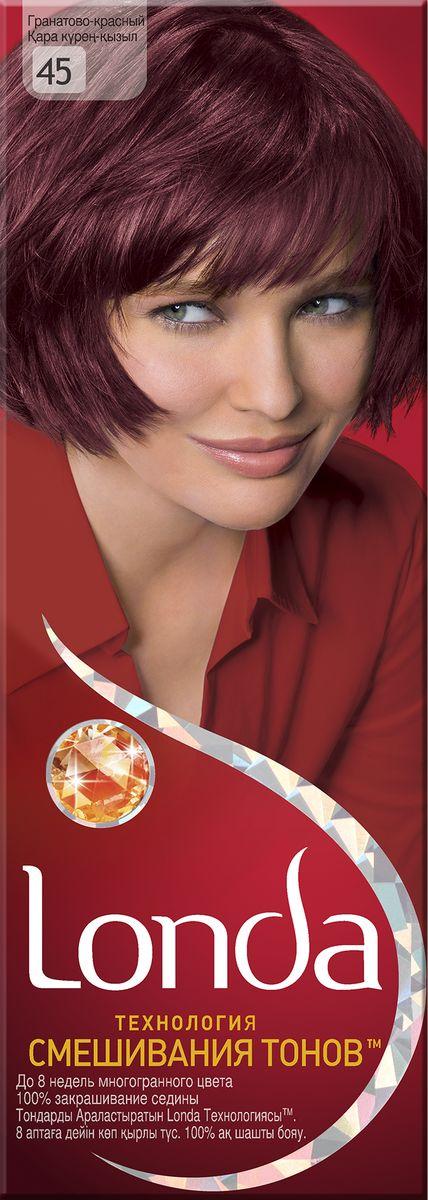 LONDA Крем-краска для волос стойкая 45 Гранато-красный09342751021Ищите цвет, полный жизни, который бы сохранился надолго? Крем-краска для волос Londa идеально вам подойдет. Эксклюзивная система окрашивания дарит вам до 8 недель многогранного цвета. Это возможно благодаря технологии смешивания тонов, которая объединяет богатые оттенки, и бальзаму Стойкий цвет, который надолго сохранит ваш насыщенный цвет. 100% закрашивание седины.Товар сертифицирован.