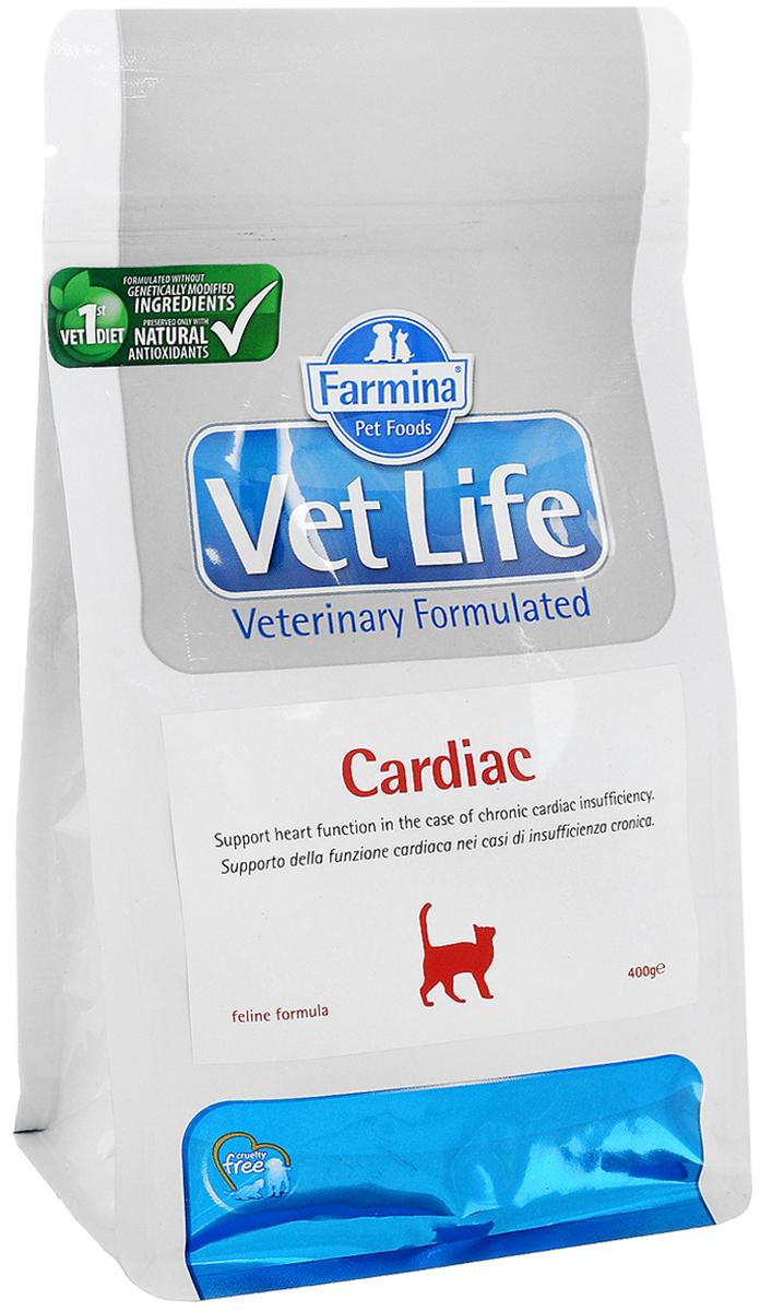 Корм сухой Farmina Vet Life для кошек, для поддержания работы сердца при хронической сердечной недостаточности, диетический, 400 г0120710Корм Farmina Vet Life - это диетическое питание для собак, предназначенное для поддержания работы сердца при хронической сердечной недостаточности. Диета содержит низкий уровень натрия и оптимальное соотношение калия/натрия. Корм способствует оптимальной работе кишечника. Входящий в состав таурин регулирует сократительную способность миокарда, L-карнитин повышает устойчивость к физическим нагрузкам, Омега-3 оказывает противовоспалительное воздействие.Товар сертифицирован.