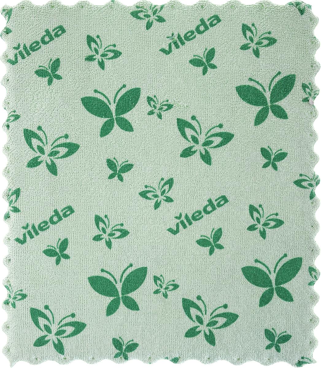 Салфетка универсальная Vileda, цвет: зеленый, 17 х 20 см салфетка vileda актифайбр