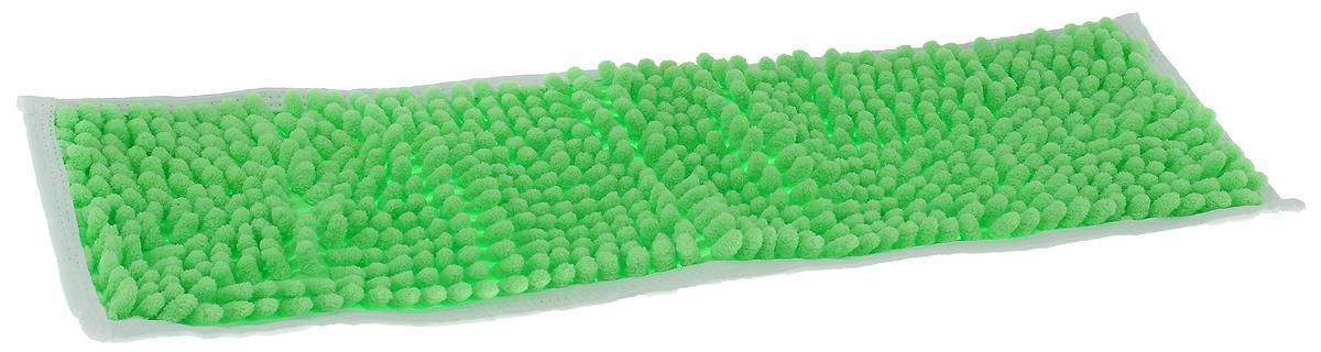 Насадка для швабры Коллекция, цвет: салатовый, 43 х 13 см466323Насадка для швабры Коллекция, изготовленная из 100% полиэстера, предназначена для влажной и сухой уборки напольных покрытий: паркет, линолеум, кафель и так далее. Обладает большой впитывающей способностью. Не оставляет разводов и ворсинок, прекрасно собирает пыль и удаляет загрязнения. Легко споласкивается водой, не требует дополнительного ухода.Размер насадки: 43 х 13 см.Высота ворса: 1,5 см.