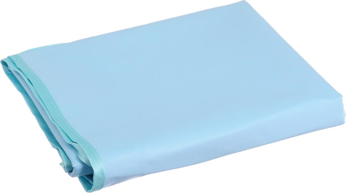 Колорит Клеенка подкладная с резинками-держателями цвет голубой бирюзовый 70 х 100 см  колорит клеенка подкладная с резинками держателями 100 смх 70 цвет белый