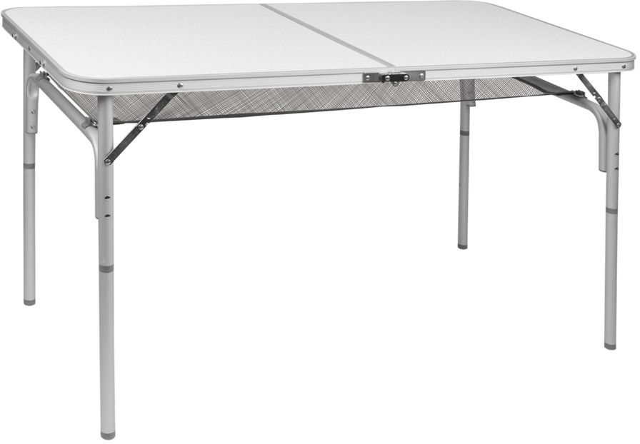 Стол складной Trek Planet Forest 120, кемпинговый, 120 x 60 x 36/60 смAS009Легкий стол Forest 120 с ножками складывающимися в столешницу, незаменимая вещь для большой семьи в путешествии.Если поверхность не очень ровная, высоту ножек стола можно слегка отрегулировать с помощью пластиковых шайб в основании каждой ножки.Сетка под столешницей, очень удобное дополнение, позволяет хранить необходимые вещи под рукой.Ножки крепятся на внутренней поверхности стола с помощью пластиковых фиксаторов. Столешница складывается пополам в плоский чемоданчик с ручкой для переноски. - Столешница из огнеупорного пластика- Каждую ножку можно слегка отрегулировать на неровной поверхности за счет пластиковых шайб- Откручивающиеся ножки- Пластиковый крепеж для ножек на внутренней стороне столешницы- Ручка для переноски- Плоско складывается в чемоданчикХарактеристики: Материал: Столешница: огнеупорный пластикРама: 25 мм алюминийРазмер в разложенном виде: 120x60x36/60 смМинимальная высота стола: 36 смМаксимальная высота стола: 60 смРазмер в сложенном виде: 60х60х5 смВес: 4,8 кгНагрузка: 30 кгПроизводство: КитайАртикул: 70777