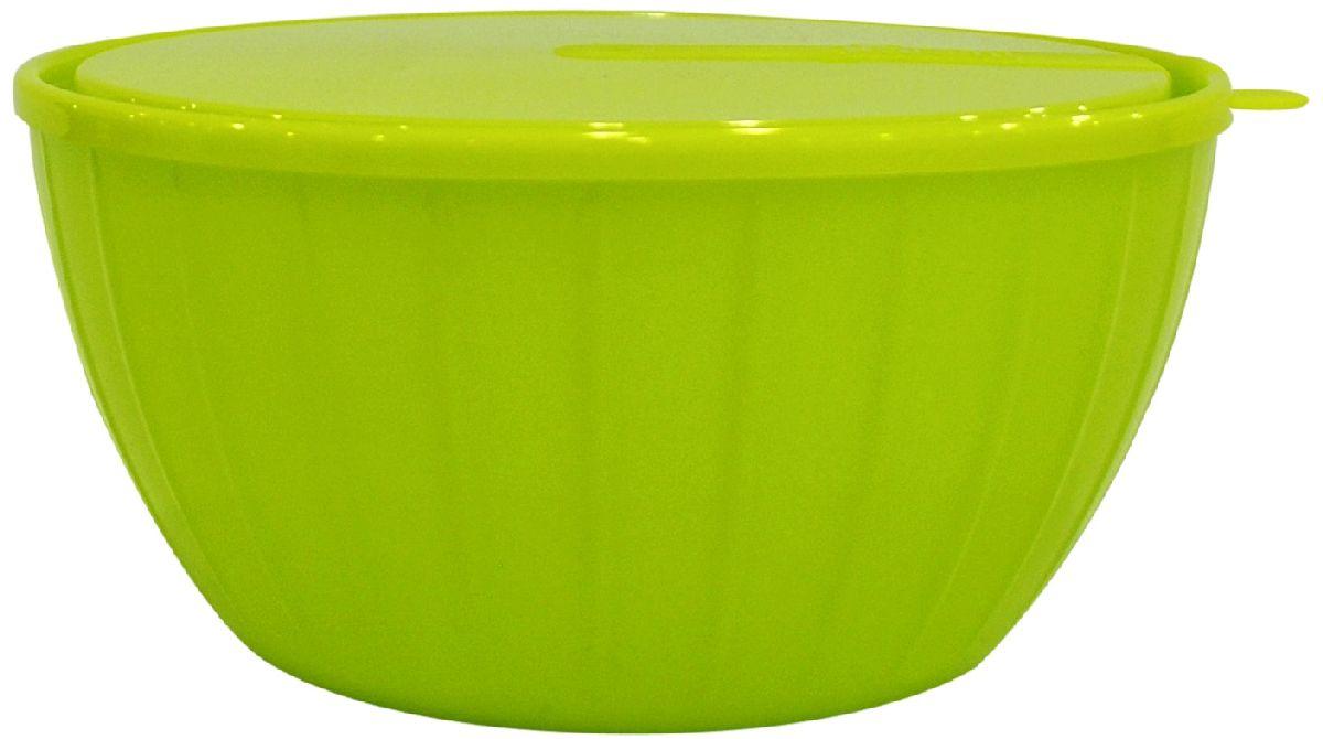 Салатник Giaretti Fiesta, с крышкой, цвет: оливковый, 5 л83-012-ф25 ЗЕЛПластиковый салатник Giaretti Fiesta предназначен не только для подачи, но и для хранения салатов. Удобная крышка помогает сохранять свежесть продуктов, а сам салатник достаточно легок для транспортировки! Он создан из абсолютно безопасных пищевых материалов, так что вы можете не волноваться о сохранении качества продуктов.