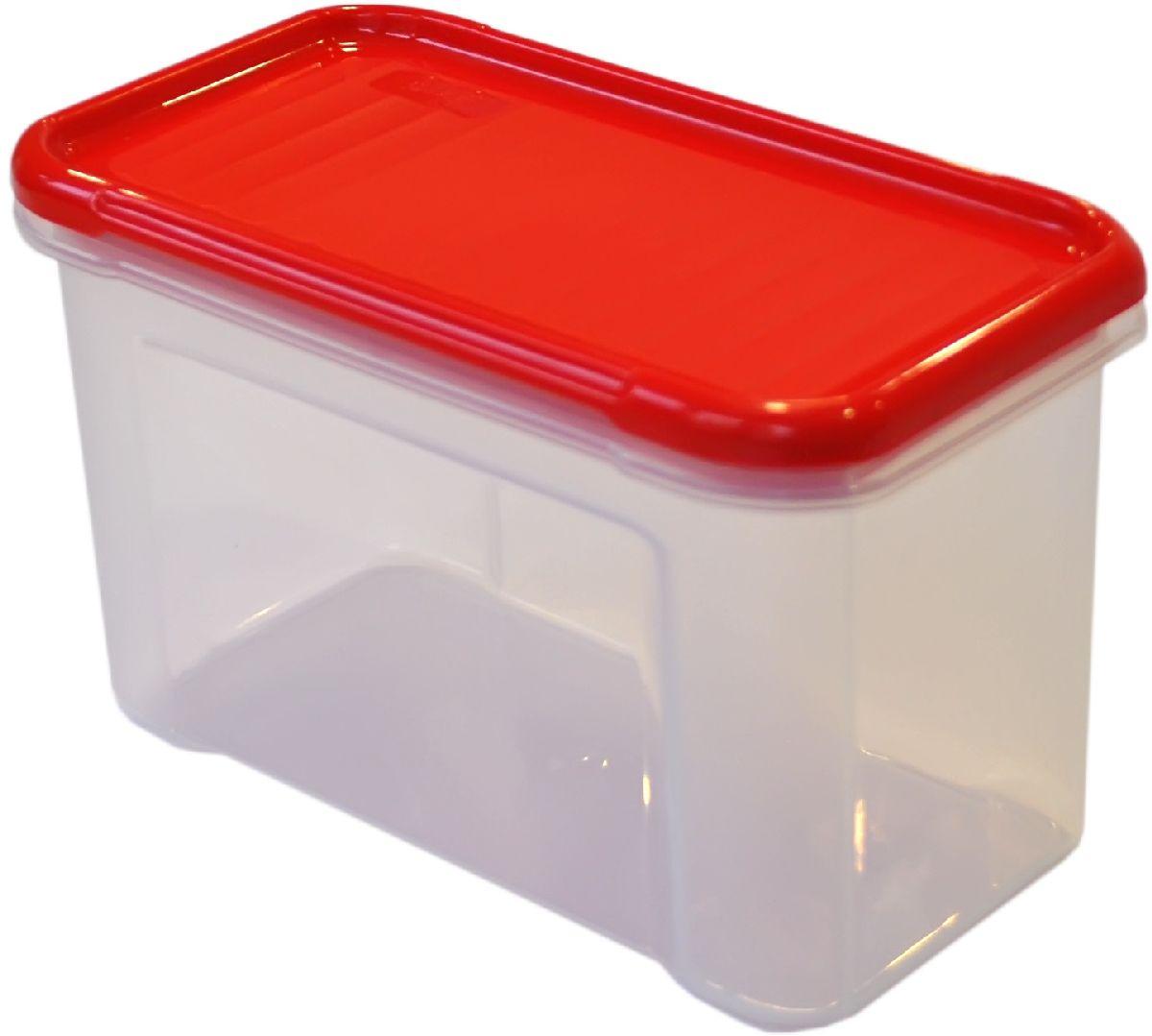 Банка для сыпучих продуктов Giaretti Krupa, цвет: красный, прозрачный, 0,75 лVT-1520(SR)Банки для сыпучих продуктов предназначены для хранения круп, сахара, макаронных изделий, сладостей и т.п., в том числе для продуктов с ярким ароматом (специи и пр.). Строгая прямоугольная форма банок поможет Вам организовать пространство максимально комфортно, не теряя полезную площадь. При этом банки устанавливаются одна на другую, что способствует экономии пространства в Вашем шкафу. Плотная крышка не пропускает запахи, и они не смешиваются в Вашем шкафу. Благодаря разнообразным отверстиям в дозаторе, Вам будет удобно насыпать как мелкие, так и крупные сыпучие продукты, что сделает процесс приготовления пищи проще.