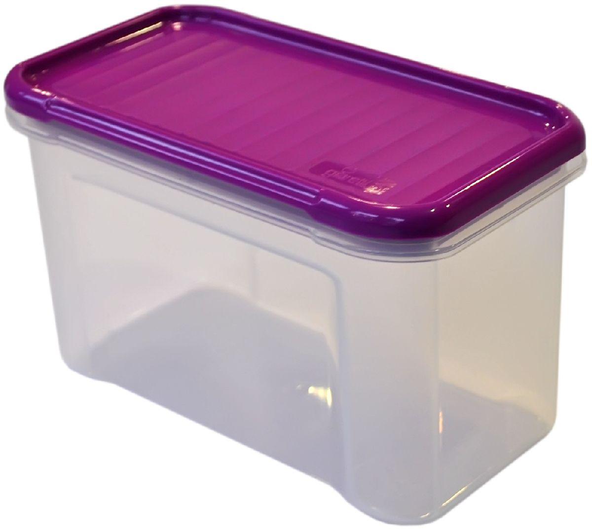 Банка для сыпучих продуктов Giaretti Krupa, цвет: черничный, прозрачный, 0,75 лVT-1520(SR)Банки для сыпучих продуктов предназначены для хранения круп, сахара, макаронных изделий, сладостей и т.п., в том числе для продуктов с ярким ароматом (специи и пр.). Строгая прямоугольная форма банок поможет Вам организовать пространство максимально комфортно, не теряя полезную площадь. При этом банки устанавливаются одна на другую, что способствует экономии пространства в Вашем шкафу. Плотная крышка не пропускает запахи, и они не смешиваются в Вашем шкафу. Благодаря разнообразным отверстиям в дозаторе, Вам будет удобно насыпать как мелкие, так и крупные сыпучие продукты, что сделает процесс приготовления пищи проще.