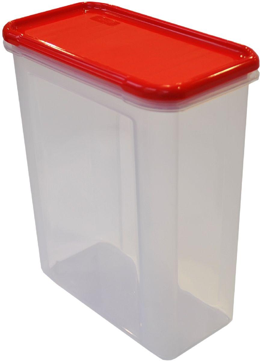Банка для сыпучих продуктов Giaretti Krupa, цвет: красный, прозрачный, 1,5 лVT-1520(SR)Банка для сыпучих продуктов Giaretti Krupa предназначена для хранения круп, сахара, макаронных изделий, сладостей, в том числе для продуктов с ярким ароматом (специи и прочее). Строгая прямоугольная форма банки поможет вам организовать пространство максимально комфортно, не теряя полезную площадь. Плотная крышка не пропускает запахи, и они не смешиваются в вашем шкафу. Благодаря разнообразным отверстиям в дозаторе будет удобно насыпать как мелкие, так и крупные сыпучие продукты, что сделает процесс приготовления пищи проще.