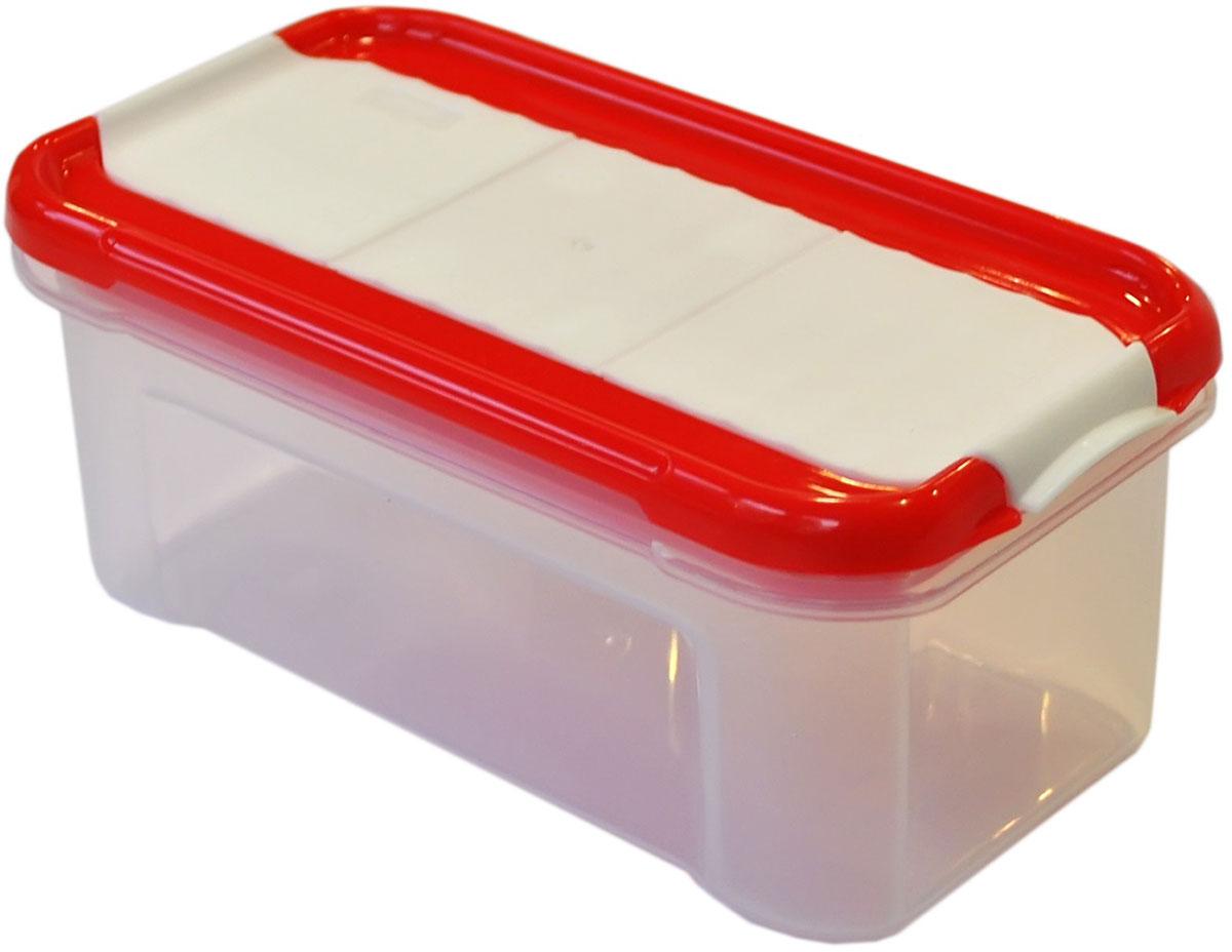 Банка для сыпучих продуктов Giaretti Krupa, с дозатором, цвет: красный, прозрачный, 500 млVT-1520(SR)Банка для сыпучих продуктов Giaretti Krupa предназначена для хранения круп, сахара, макаронных изделий, сладостей, в том числе для продуктов с ярким ароматом (специи и прочее). Строгая прямоугольная форма банки поможет вам организовать пространство максимально комфортно, не теряя полезную площадь. Плотная крышка не пропускает запахи, и они не смешиваются в вашем шкафу. Благодаря разнообразным отверстиям в дозаторе будет удобно насыпать как мелкие, так и крупные сыпучие продукты, что сделает процесс приготовления пищи проще.