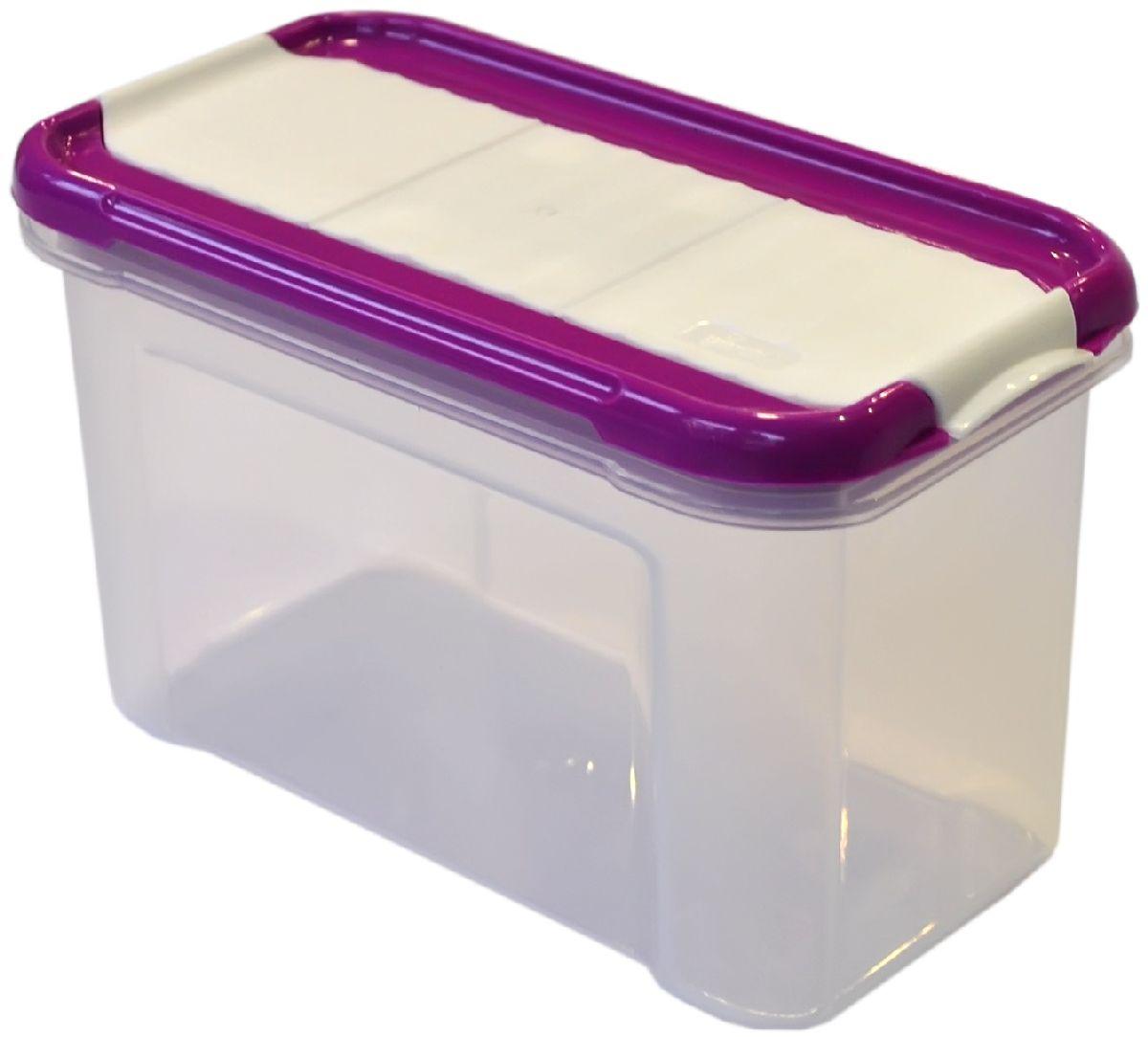Банка для сыпучих продуктов Giaretti Krupa, с дозатором, цвет: черничный, прозрачный, 0,75 л21395599Банки для сыпучих продуктов предназначены для хранения круп, сахара, макаронных изделий, сладостей и т.п., в том числе для продуктов с ярким ароматом (специи и пр.). Строгая прямоугольная форма банок поможет Вам организовать пространство максимально комфортно, не теряя полезную площадь. При этом банки устанавливаются одна на другую, что способствует экономии пространства в Вашем шкафу. Плотная крышка не пропускает запахи, и они не смешиваются в Вашем шкафу. Благодаря разнообразным отверстиям в дозаторе, Вам будет удобно насыпать как мелкие, так и крупные сыпучие продукты, что сделает процесс приготовления пищи проще.
