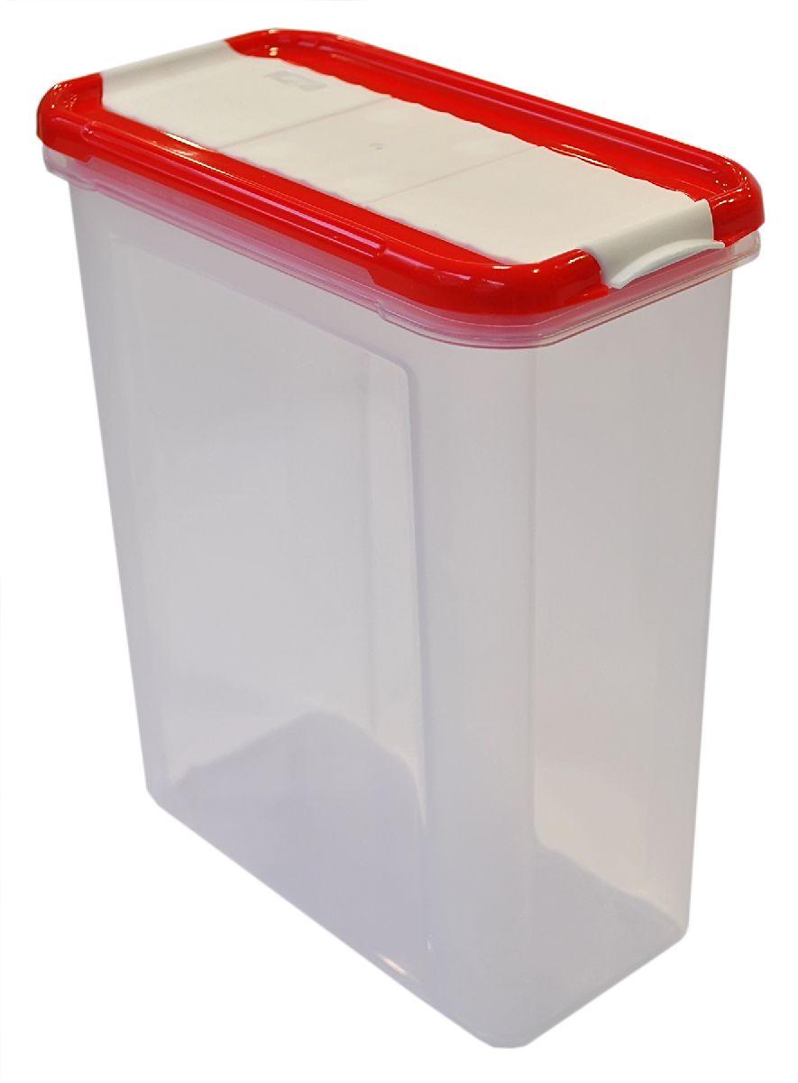 Банка для сыпучих продуктов Giaretti Krupa, с дозатором, цвет: красный, прозрачный, 1,5 л97425BБанка для сыпучих продуктов Giaretti Krupa предназначена для хранения круп, сахара, макаронных изделий, сладостей, в том числе для продуктов с ярким ароматом (специи и прочее). Строгая прямоугольная форма банки поможет вам организовать пространство максимально комфортно, не теряя полезную площадь. Плотная крышка не пропускает запахи, и они не смешиваются в вашем шкафу. Благодаря разнообразным отверстиям в дозаторе будет удобно насыпать как мелкие, так и крупные сыпучие продукты, что сделает процесс приготовления пищи проще.