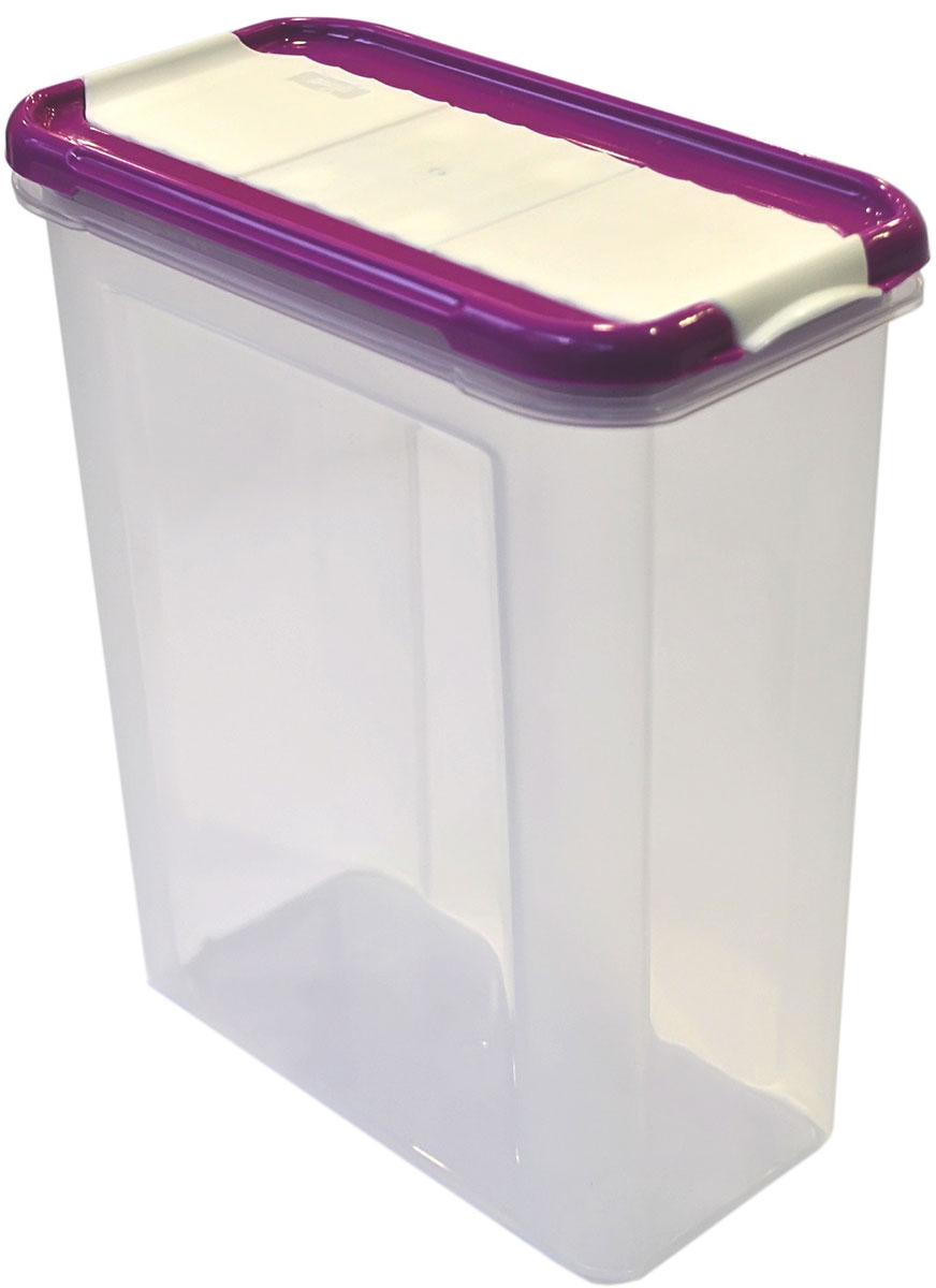 Банка для сыпучих продуктов Giaretti Krupa, с дозатором, цвет: черничный, прозрачный, 1,5 лVT-1520(SR)Банка для сыпучих продуктов Giaretti Krupa предназначена для хранения круп, сахара, макаронных изделий, сладостей, в том числе для продуктов с ярким ароматом (специи и прочее). Строгая прямоугольная форма банки поможет вам организовать пространство максимально комфортно, не теряя полезную площадь. Плотная крышка не пропускает запахи, и они не смешиваются в вашем шкафу. Благодаря разнообразным отверстиям в дозаторе будет удобно насыпать как мелкие, так и крупные сыпучие продукты, что сделает процесс приготовления пищи проще.