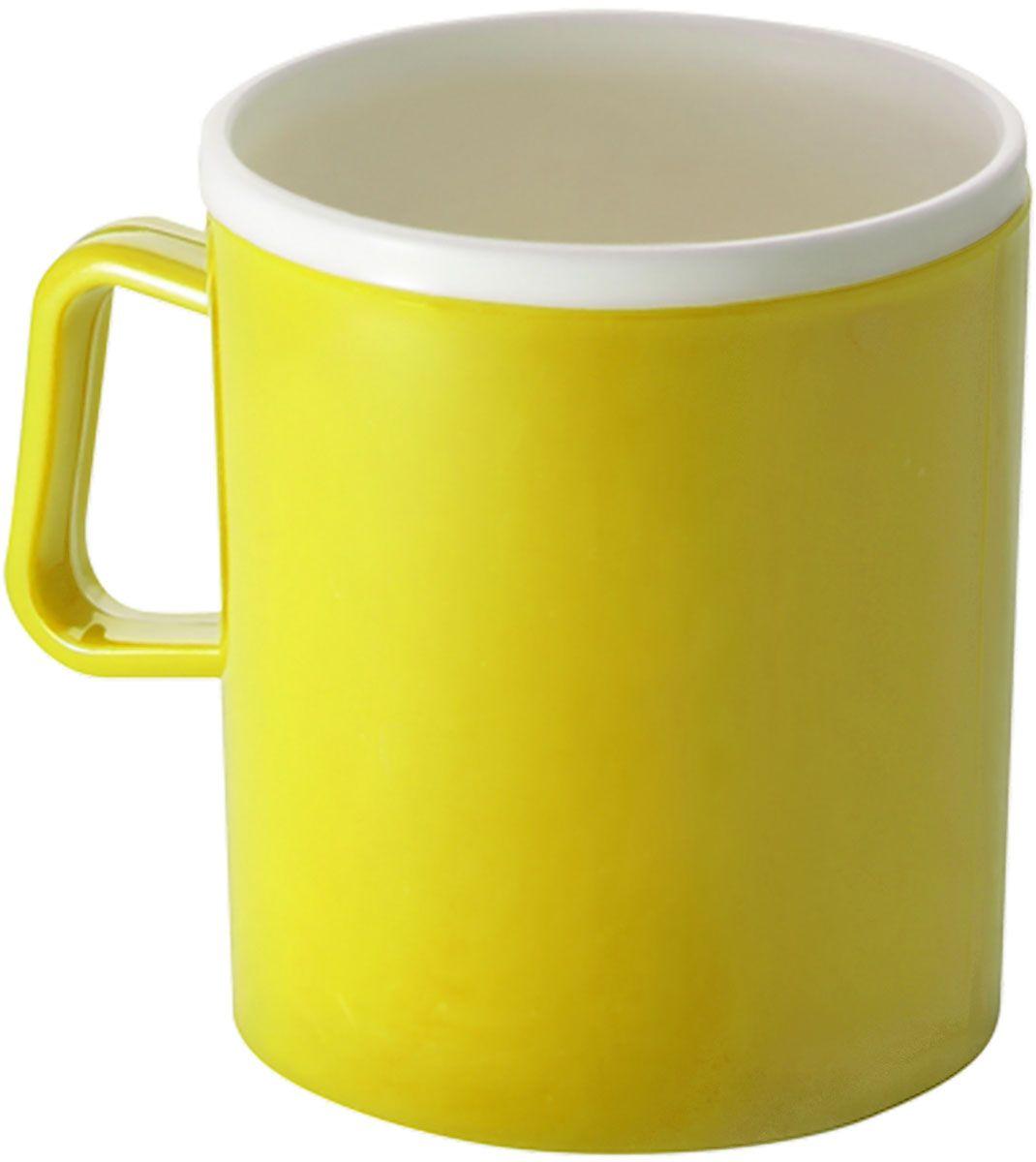 Термокружка Plastic Centre, двойная, цвет: желтый, 350 млVT-1520(SR)Термокружка Plastic Centre с двойными стенками предназначена для горячих напитков и прекрасно сохраняет их температуру. Прочный пластик подходит для многократного использования. Легкую кружку удобно взять с собой на природу или в поездку. Можно мыть в посудомоечной машине.Объем кружки: 350 мл.Высота кружки: 10 см.
