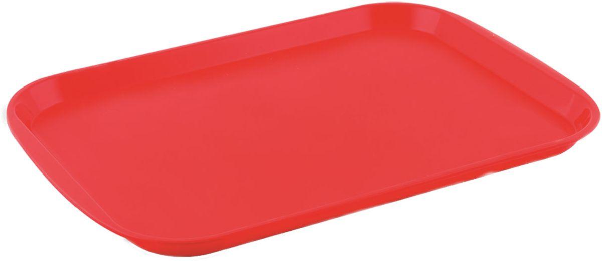 Поднос Plastic Centre Титан, цвет: красный, 47 х 35,5 см115510Поднос универсальный большой для переноски посуды. Прочный материал обеспечивает долговечность изделия. Рельефная поверхность предотвращает скольжение посуды на подносе.