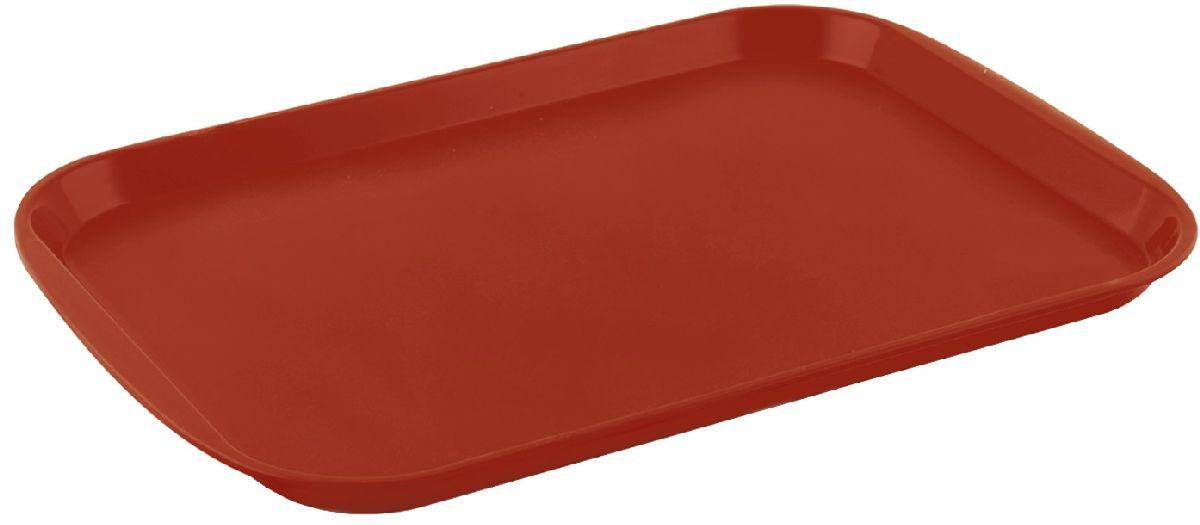 Поднос Plastic Centre Титан, цвет: коричневый, 47 х 35,5 смПЦ1441КЧПоднос универсальный большой для переноски посуды. Прочный материал обеспечивает долговечность изделия. Рельефная поверхность предотвращает скольжение посуды на подносе.