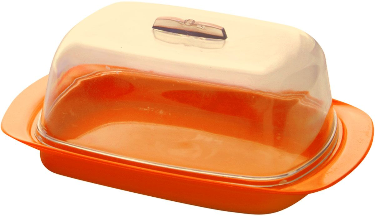 Масленка Plastic Centre, цвет: оранжевый, 19 х 7 х 11,5 см115510Универсальная масленка для хранения масла. Лаконичный дизайн и яркая цветовая гамма прекрасно подойдут как для хранения масла в холодильнике, так и для подачи на стол.Размер масленки: 19 х 7 х 11,5 см.