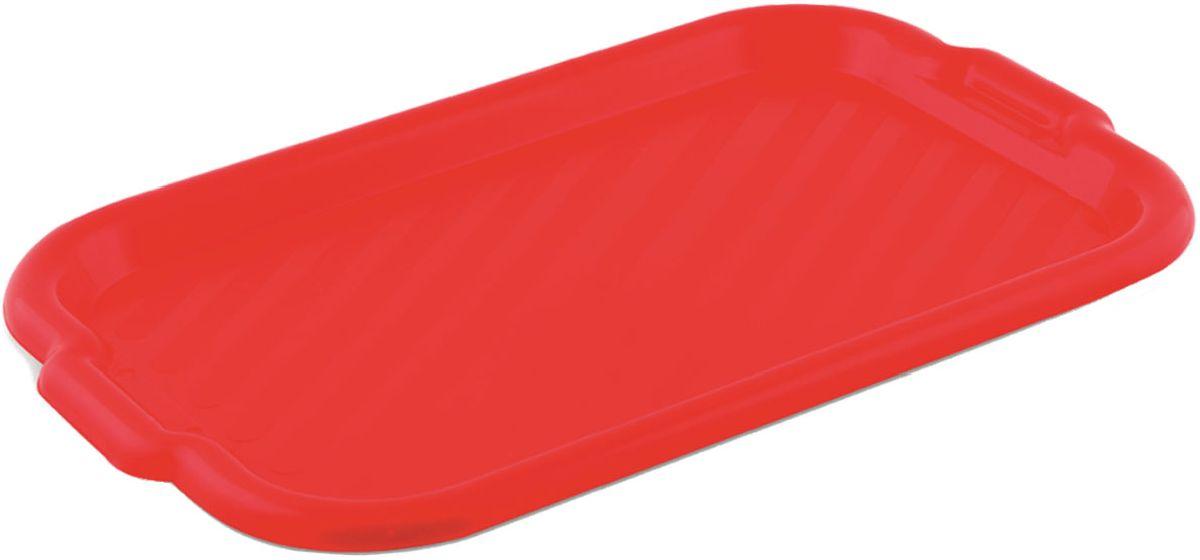 Поднос Plastic Centre, универсальный, цвет: красный, 43 х 27,5 смVT-1520(SR)Поднос универсальный предназначен для переноски посуды. Прочный материал обеспечивает долговечность изделия. Рельефная поверхность предотвращает скольжение посуды на подносе.Размер подноса: 43 х 27,5 см.Вес подноса: 210 г.