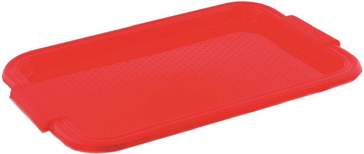 Поднос Plastic Centre Итальянский, цвет: красный, 45,5 х 31 см115510Поднос универсальный предназначен для переноски посуды. Прочный материал обеспечивает долговечность изделия. Рельефная поверхность предотвращает скольжение посуды на подносе.Размер подноса: 45,5 х 31 см.Вес подноса: 320 г.