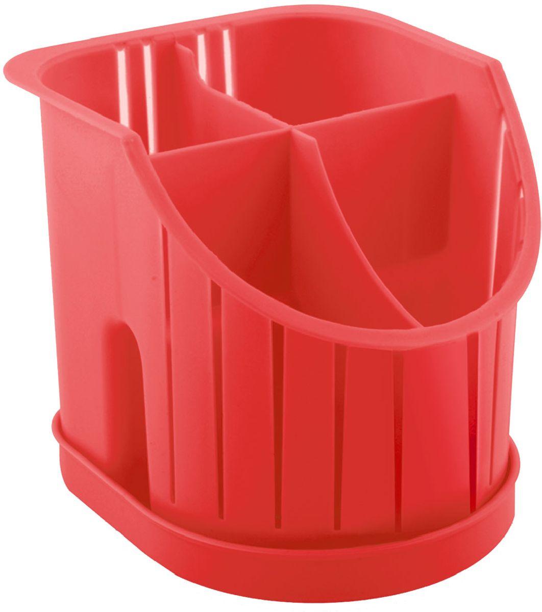 Сушилка для столовых приборов Plastic Centre, 4-секционная, цвет: красный, 16 х 14,2 х 12,8 смПЦ1550КРСушилка для столовых приборов пригодится на любой кухне. Четыре секции позволят сушить или хранить столовые приборы по отдельности (ножи, вилки, ложки и т.п.). Сушилка снабжена поддоном.Размер сушилки: 16 х 14,2 х 12,8 см.