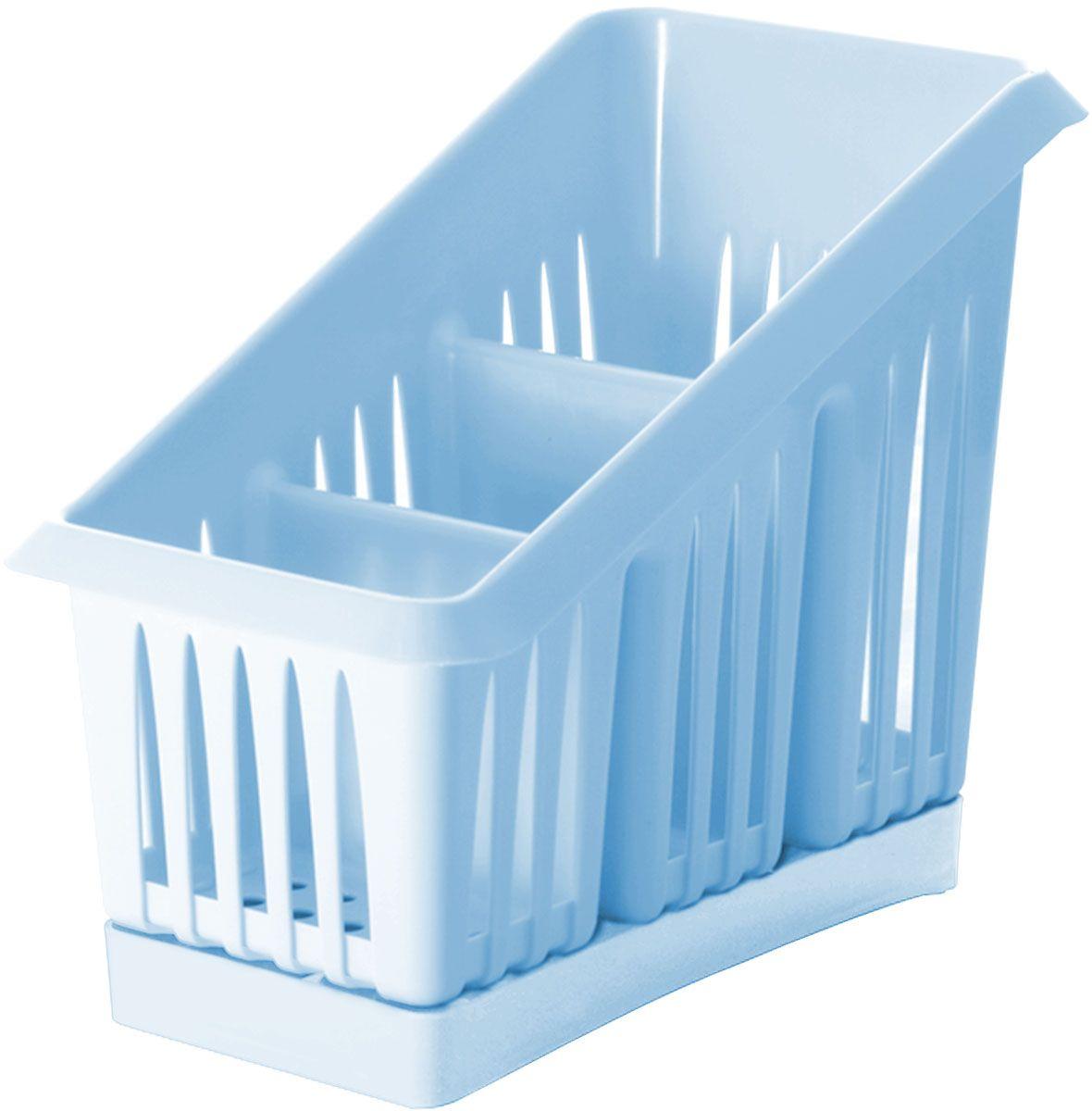 Сушилка для столовых приборов Plastic Centre Лилия, 3-секционная, цвет: голубой, 20 х 12 х 16 см21395598Сушилка для столовых приборов пригодится на любой кухне. Три секции позволят сушить или хранить столовые приборы по отдельности (ножи, вилки, ложки и т.п.). Сушилка снабжена поддоном для стока воды с приборов.